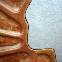 Two Lands (detail) - Earthenware Clay, 2010